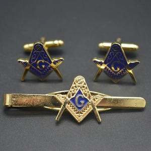 Masonic cufflinks set tie clip gift set male gift tie clip