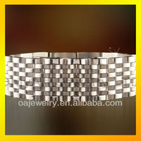 fashion stainless steel jewelry watch band bracelet for men