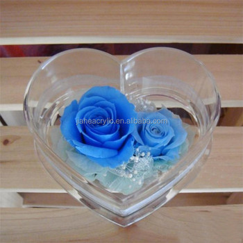 Customized Clear Heart Shape Acrylic Plastic Birthday Gift Box ...
