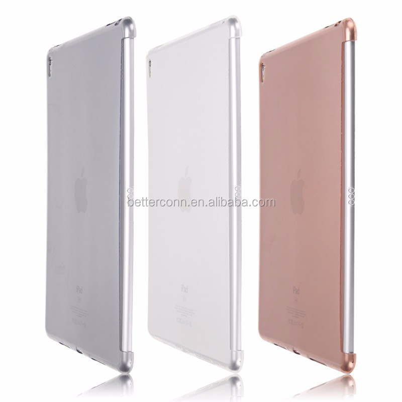 2016 TPU Soft Matte Transparent Ultra Thin partner shell Silicone Back Protective Case For iPad Pro 9.7 inch
