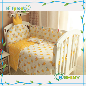 high quality 2017 new crown design baby crib beding set