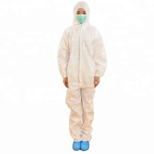 white disposable coverall/disposable polypropylene coveralls