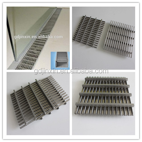 Drainage Stainless Steel Floor Drain Grating Patio Covers/airport Drain  System/railway Drainage