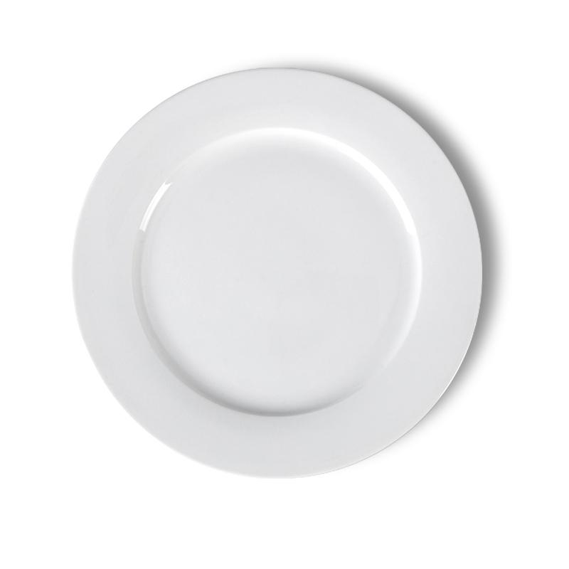 도매 대량 웨딩 연회장 이벤트 화이트 저렴한 라운드 도자기 접시, 도자기 식기 있음 ~
