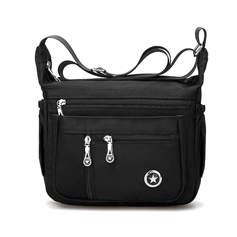 651c1b7c2886 Get Quotations · Nylon Crossbody Bags, JOSEKO Multi-pocket Nylon Waterproof  5 Colors Shoulder Bags Casual Lightweight