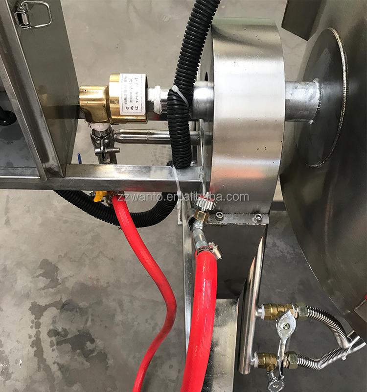 chaleira de vapor-jacked cozinhar panela de molho de pimentão que faz a máquina