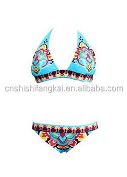 8fecaf8275d Disposable Bikini Swimwear Swimsuit Bathing Suit Monokini Padded Bohemian  Style Print Bikini Bathing Suit - Buy Disposable Bikini Swimwear Swimsuit  ...