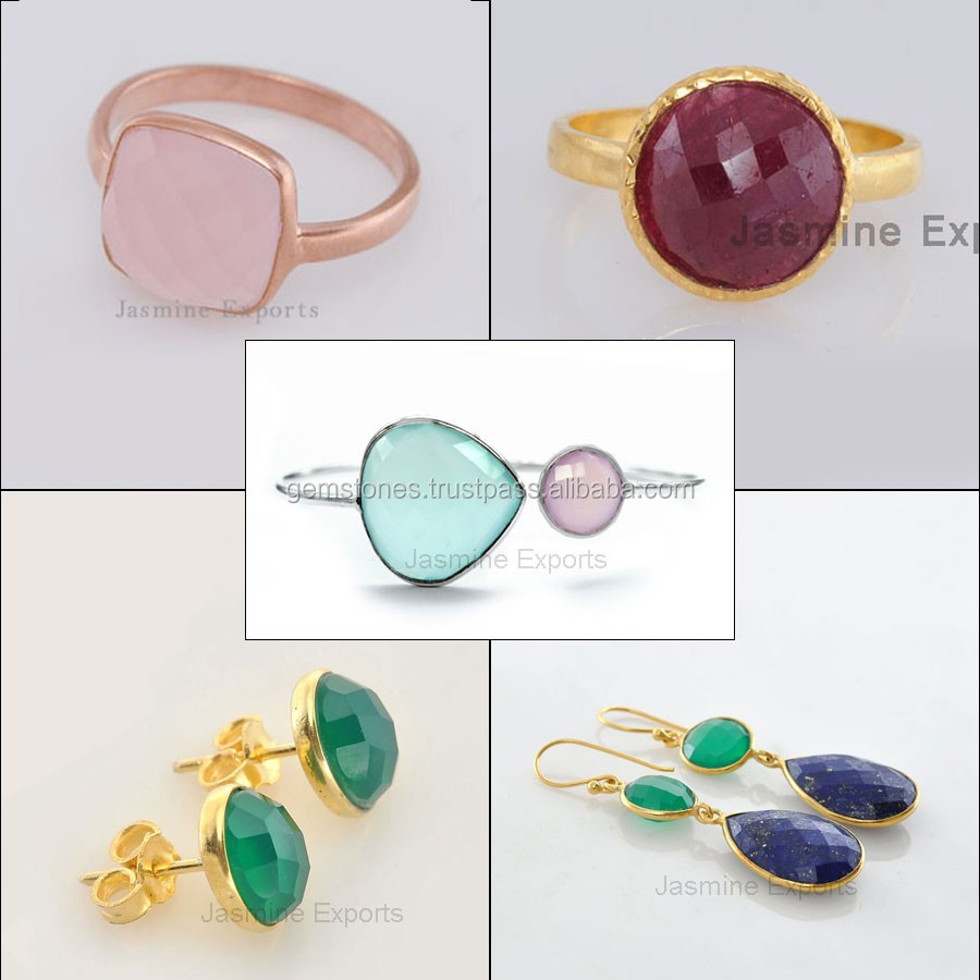 Handmade 925 Sterling Silver Gemstone Jewelry Whole Supplier And Manufacturer Gold Vermeil Plated Bezel