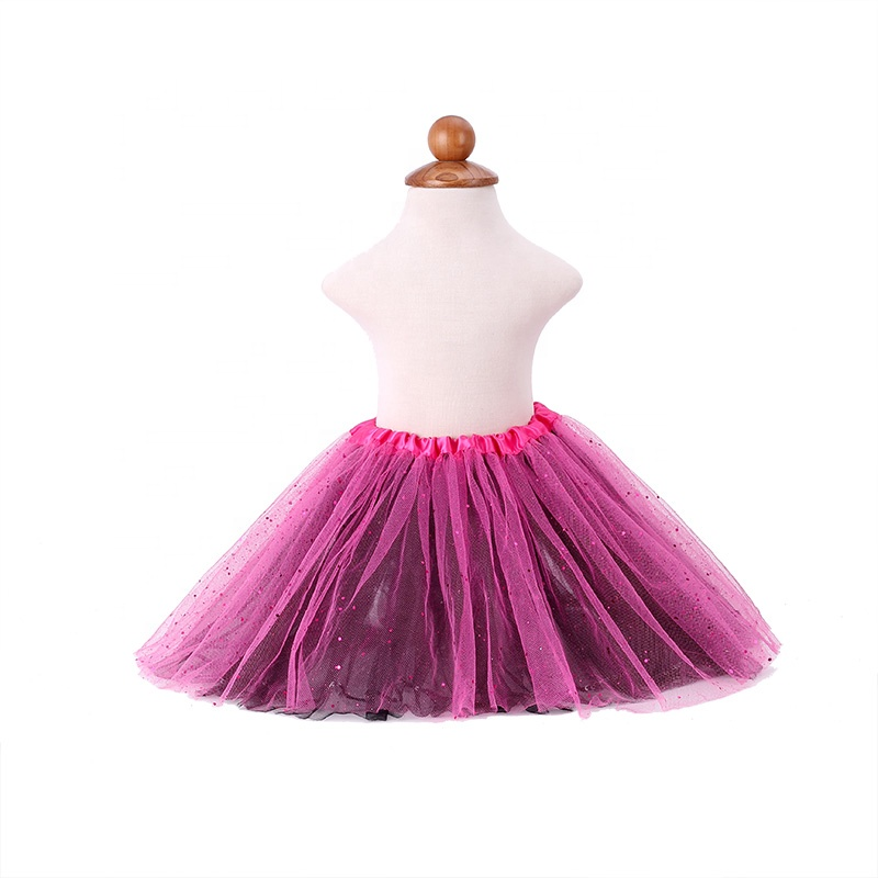 hot sale child tutu glitter tutu classical cheap tulle ballet tutu skirts mini dance wear baby