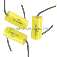 metallized poleyster film capacitor mef 2ur voltage 505j250v soft wire axial type metallized polypropylenel film capacitor