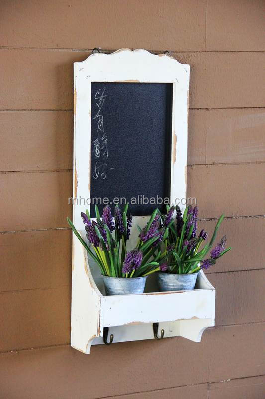 Shabby chic white wall hanging chalk board
