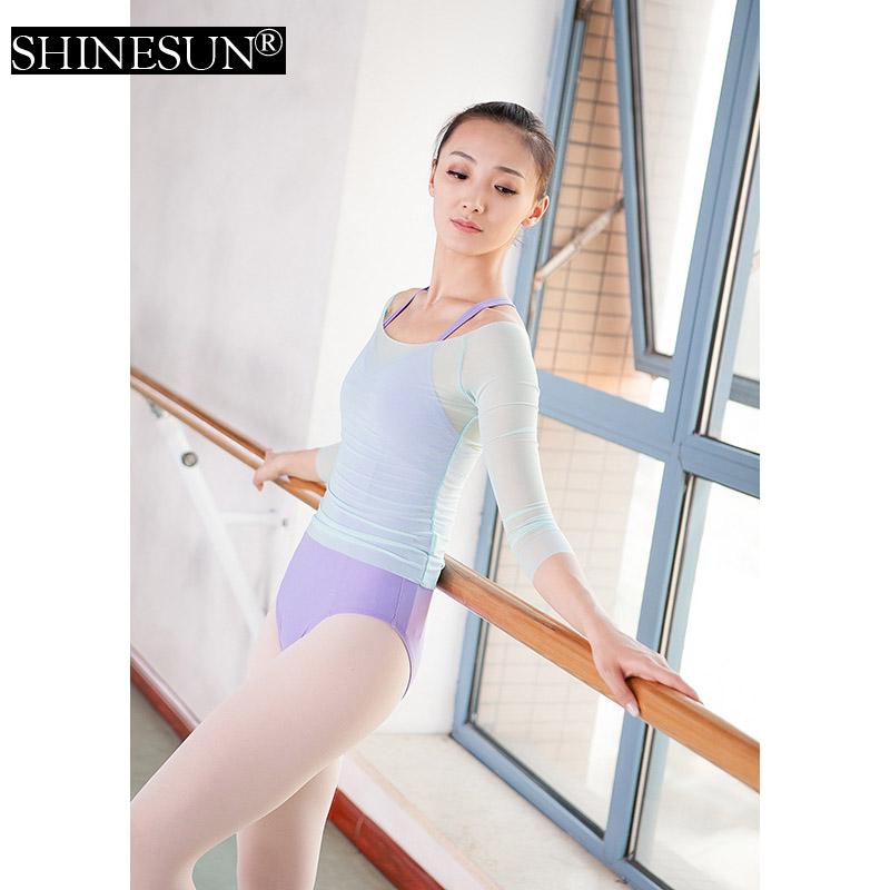 88d35e6d6c25 2016 New arrival long sleeve leotards sexy leotard teen Gymnastics