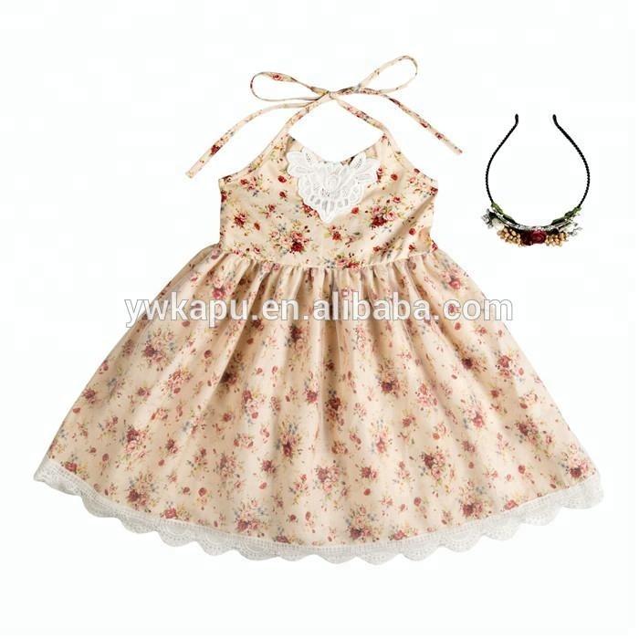 7a5b04fb09a2b Fille Robe Vêtements pour nourrissons et bambins Usine directe en gros été  bébé robe de soirée ...