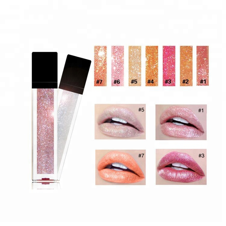 Hot selling high quality  Clear Square Slim Lip Gloss Package Tube