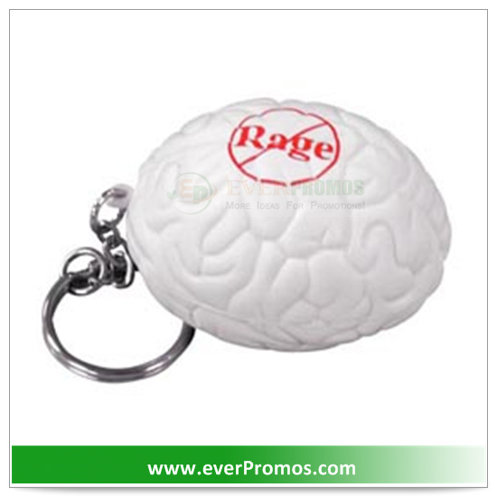PU Material Brain Key Chain Stress Reliever For Promotion