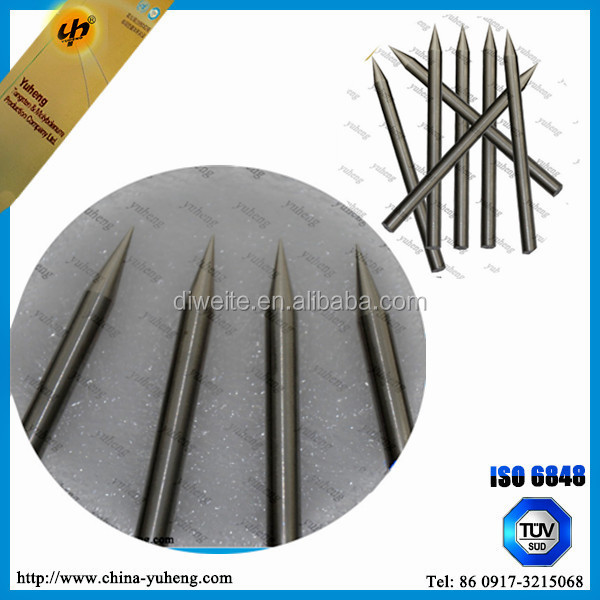 OEM size tungsten grinding electrodes for static dischanger machine