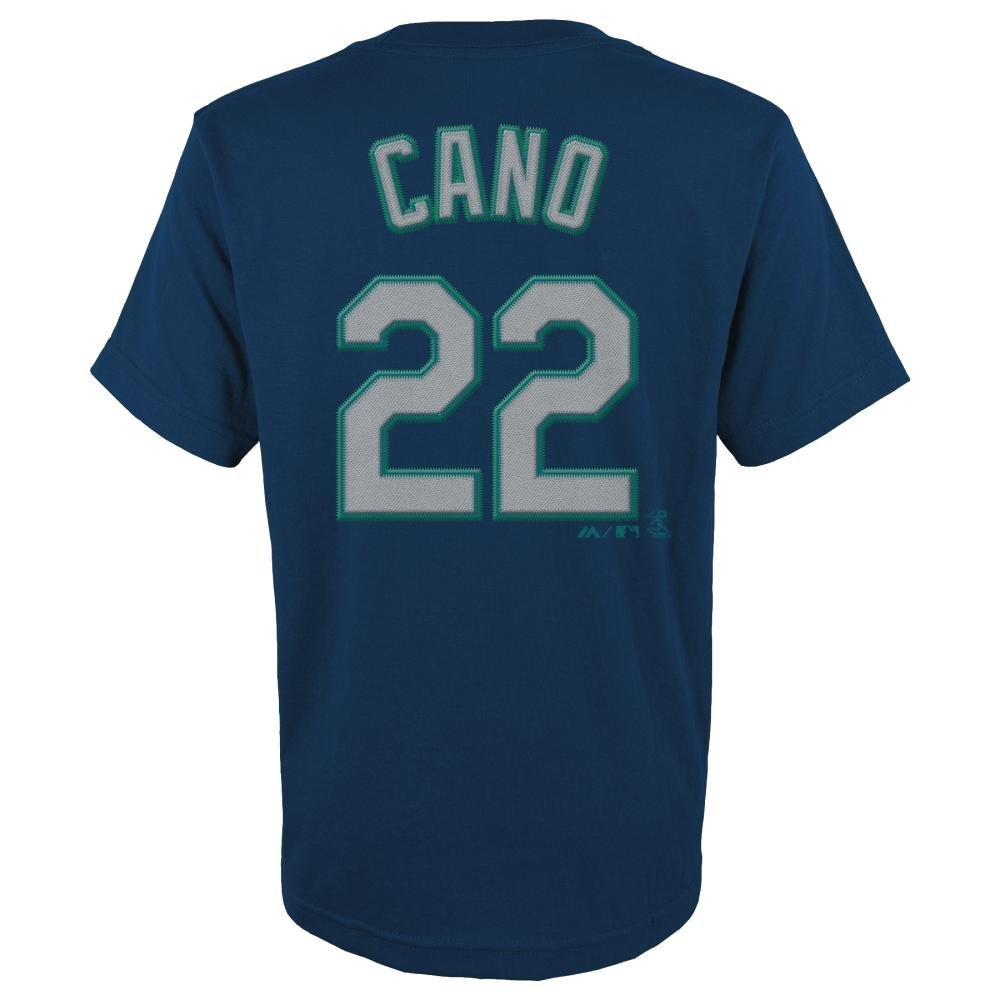 Robinson Cano Seattle Mariners Youth Majestic MLB Player Navy T-Shirt