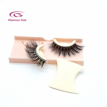 Wholesales soft band private label self adhesive 3d mink eyelashes