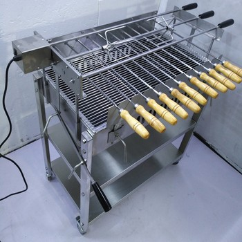 Cyprus Charcoal Barbeque Grill Foukou Greek Cypriot Motorised Rotisserie Bbq
