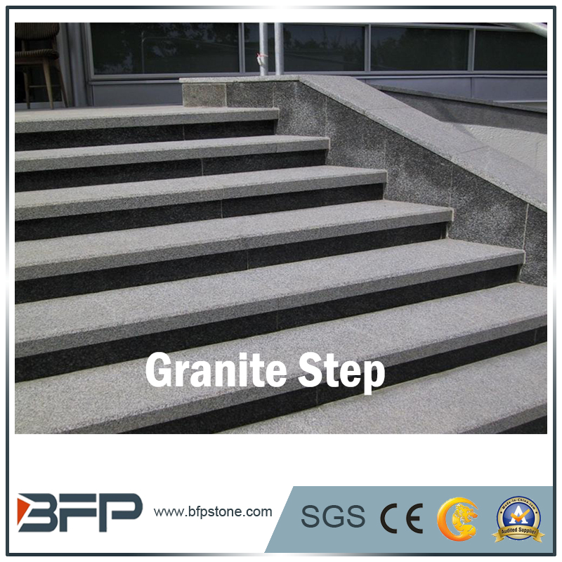 Natural Stone Light Grey Granite Stairs For Infrastructure And Square   Buy Granite  Steps And Risers,Cheap Granite Stone,Padang White Product On Alibaba.com