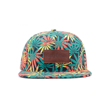 make your own print snapback flat cap with custom logo flat bill