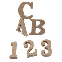 26 English Letters Arabic Numerals Log Color Home Decoration Wooden Ornaments