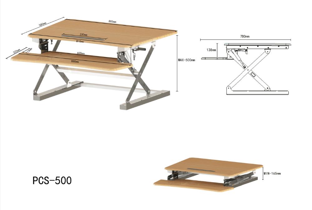 Nouvelle arrivée bureau meubles en bois noir en acier ressort À