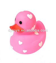 super quality plastic toy rubber pink duck for kids
