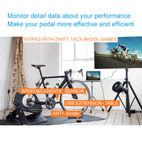 CooSpo Cycling ANT+ Bluetooth4.0 Speed Cadence Sensor for ZWIFT online game