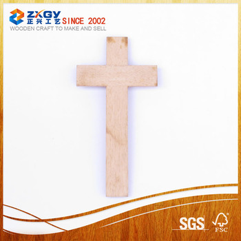 Wholesale small wall decor wooden crosses for decoration for Cheap wooden crosses for crafts