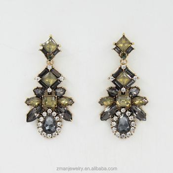 Vintage Vogue Crystal Earrings For Women Fashion Diamond Designs