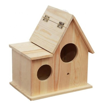 Custom Promotion Gift Handmade Unfinished DIY Wooden Nest Wild Bird House