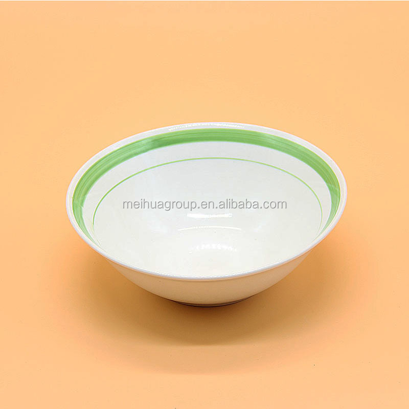"Indian Simple Style Restaurant And Hotel White Ceramic 10"" salad Bowl"
