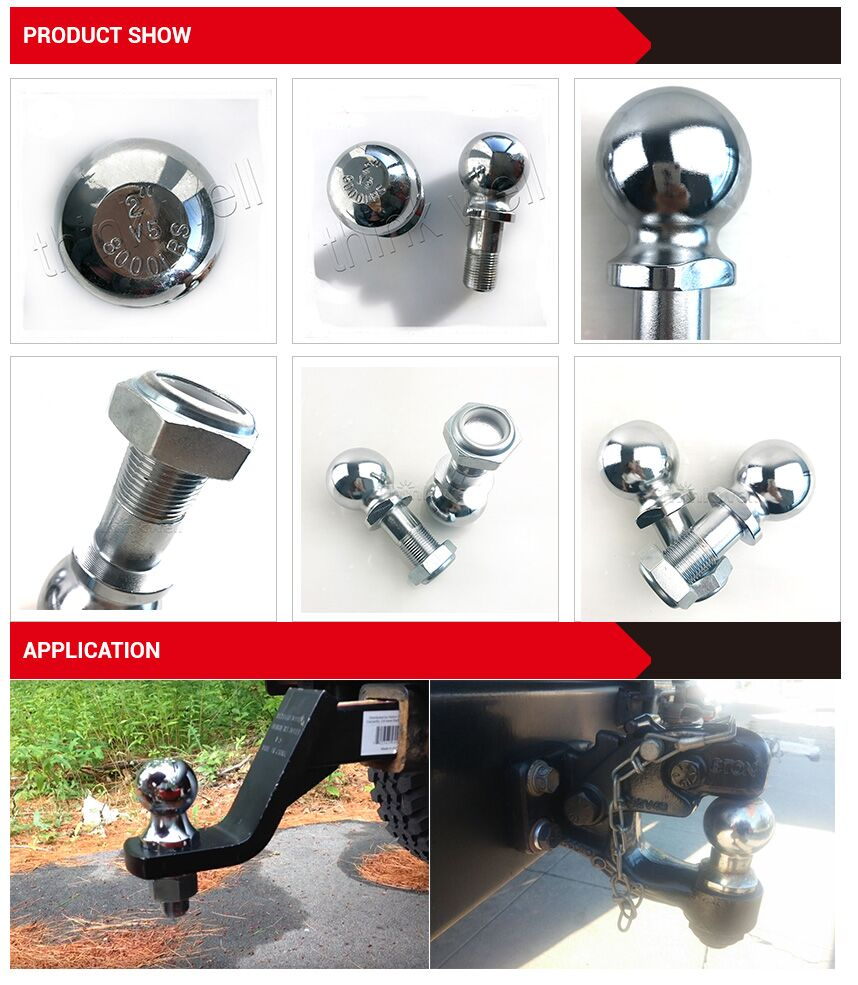 US SAE.J684 Standard Stainless Steel Trailer Hitch Ball tow ball