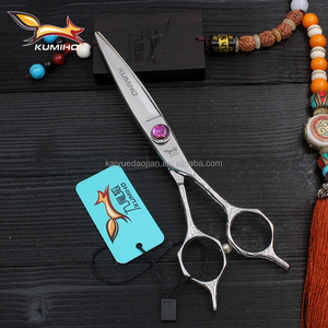 SWJ-60-55 cobalt steel hair scissors for barber shop 6inch and 5.5inch hair shear in stock