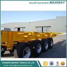 20ft 40ft Tri-axle Container Skeleton Semi Trailer container chassis