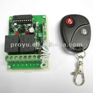2 buttons wireless Remote Control and 2 Channels wireless rf receiver Door Switch Button Module PY-DB11-4
