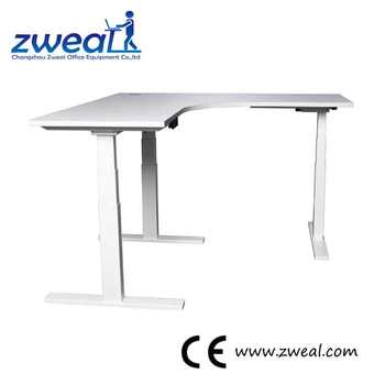 Hand Crank Three Legs Table Height Adjustable Desk Electric Sit Stand  Office Desks