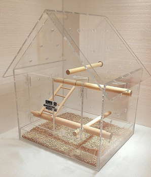 Exquisite Clear Acrylic House Shaped Bird Cage / Plexiglass Bird Feeder And  House - Buy Clear Acrylic Bird Cage,Plexiglass House Shaped Bird
