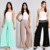 OEM Apparel Women SMOCKED WAIST SOLID KNIT PALAZZO Balloon Pants