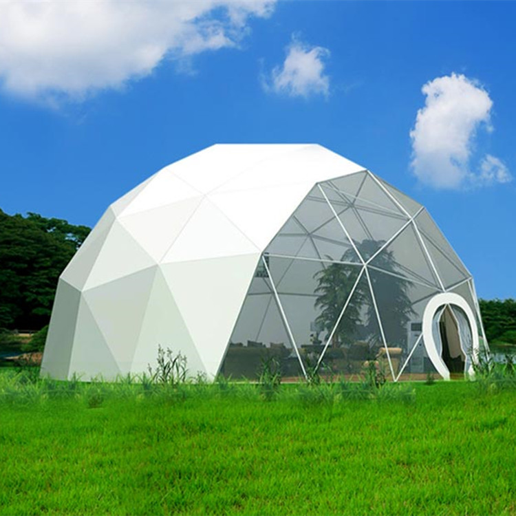 Prefabricated PVC Membrane Structure Geodesic Dome House Tent