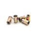 Carbon Steel Security Lock Golden Color Blind Knurled M8 Rivet Nuts