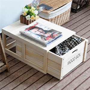 Zakka all solid wood American furniture wooden Drawers cabinet storage Wood Quran Box