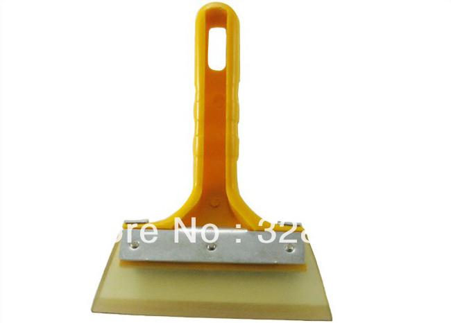 Русский пластик желтый стекло окно снега рукоятка льда скребок с гибкий резина размер поверхности 17 см * 11 см