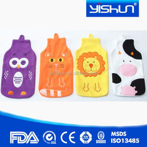Fashion Rubber Hot Water Bottle Bag Warm Relaxing Heat / Cold Therapy New