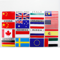 Emblem Individuality flag metal car stickers national flag stickers body scratches cover stickers