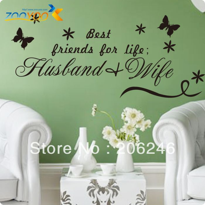 "Husband Wife Quotes In English: Characters ""Best Friend Of Life Is Husband & Wife"" Vinyl"