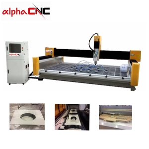 Marble And Granite Edge Polishing Machine Speed Cnc Router Automatic Stone Craving Carving Machine