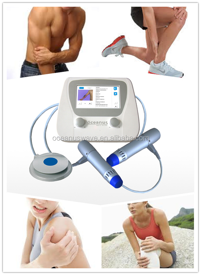 2016 new shockwave therapy device for Quadriceps tendon / patella tendinopathy(double end)