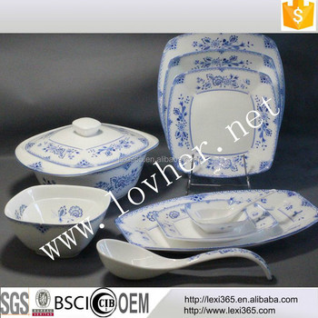 11Pcs blue and white porcelain dinner setclassic chinese tableware & 11pcs Blue And White Porcelain Dinner SetClassic Chinese ...